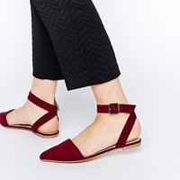 ASOS LAKE Two Part Ballerinas