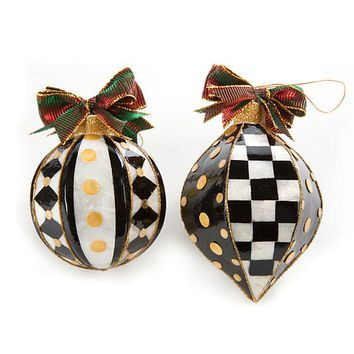 Park Avenue Ornaments - Set of 2