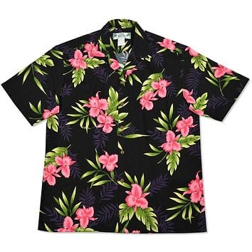 midnight hawaiian rayon shirt