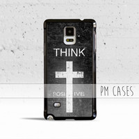 Think Positive Case Cover for Samsung Galaxy S3 S4 S5 S6 S7 Edge Plus Active Mini Note 3 4 5 7