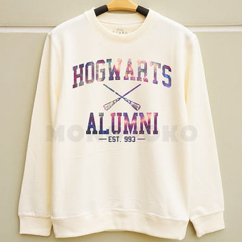 S M L -- Galaxy Hogwarts Alumni TShirts Harry Potter Sweatshirt Tee Jumpers Long Sleeve Shirts Sweater Unisex Tee Women TShirts Men TShirts