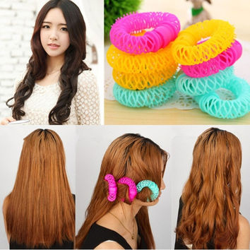 8 Pcs Doughnut-Shaped Magic Hair Styling Rollers Curlers Twist Tool = 1705240068