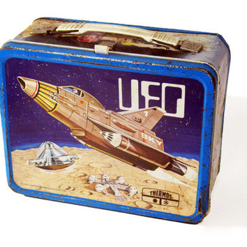 Lunchbox, UFO, TV Show, Vintage, 1970s, Collectible, Science Fiction, Lunch Box, Retro