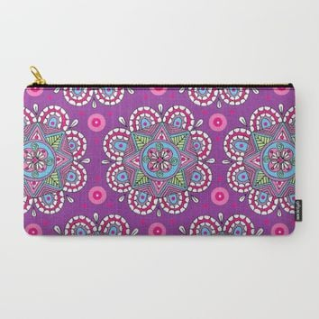 Star Flowers Carry-All Pouch by Sarah Oelerich