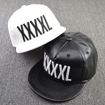 fashion men's hat male Korean hip hop show tide Cap Baseball Cap graffiti flat hat 2 color black and white