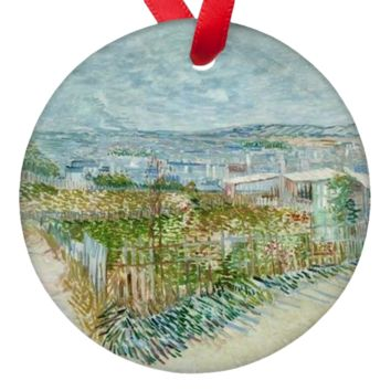 Vicent Van Gogh Landscape Art Porcelain Ornaments