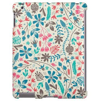 Retro Floral Pattern iPad Case