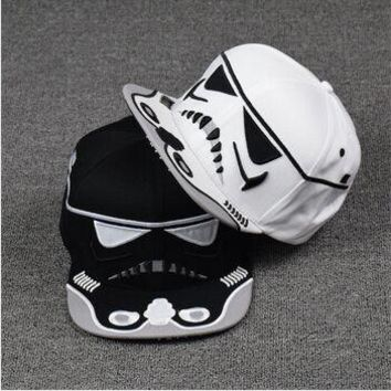 New  Fashion Cotton Brand Star Wars Snapback Caps Cool Strapback Letter Baseball Cap Bboy Hip-hop Hats For Men Women