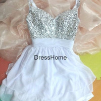 Short  Homecoming Dress - beading Homecoming Dresses / Prom Dress / Purple Prom Dress / Short Prom Dress