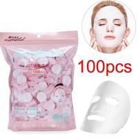 20/30/60/100pcs/pack Compressed Facial Face Mask Women Beauty DIY Disposable Mask Paper Natural Skin Care Wrapped Masks