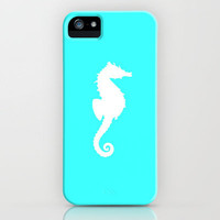 Seahorse teal iPhone Case by JT Digital Art  | Society6