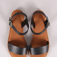 Sunny Feet One Band Ankle Strap Flat Sandal