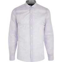 River Island MensLilac long sleeve shirt