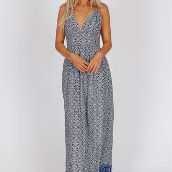 Classic Patterned Maxi Navy