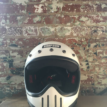 Simpson Model 50 Helmet, White