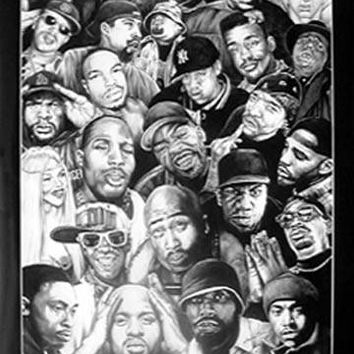 NEW! Rap Gods Hip Hop Tupac Biggie Dr. Dre Jayz Poster Home Decor Wall Art 2371