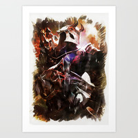 Blood Moon JHIN Art Print by naumovski