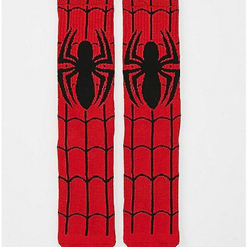 Logo Spiderman Crew Socks - Spencer's