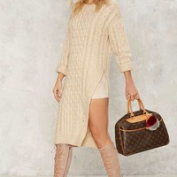 J.O.A.Rutherford Cableknit Sweater Dress