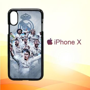 Real Madrid Team O1019 iPhone X Case