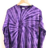 Violet Tie-Dye Long Sleeve Tee
