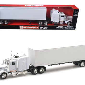 Kenworth W900 Plain White Unmarked 1-43 Model by New Ray