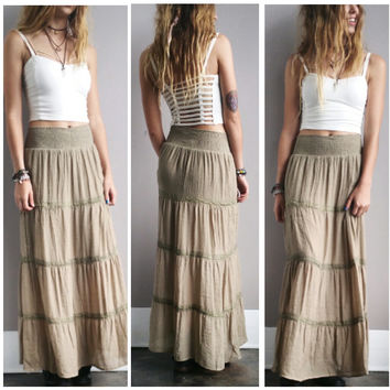 An Olive Peasant Maxi