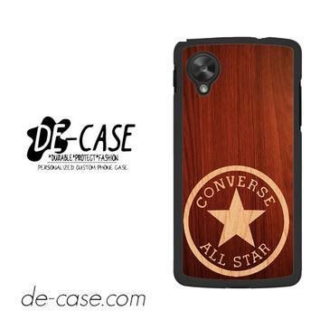 Converse Wood For Google Nexus 5 Case Phone Case Gift Present YO