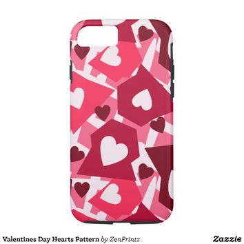 Valentines Day Hearts Pattern iPhone 7 Case