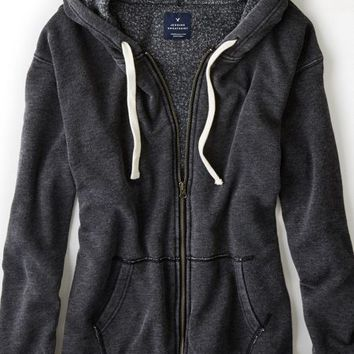 AEO Women's Jegging Hoodie (True Black)