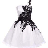 2014 Applique Sexy Lace Short Bridesmaid Evening Party Wedding Homecoming Dress