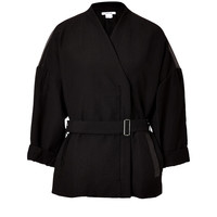 Helmut Lang - Waxed Cotton Jacket with Leather Paneling