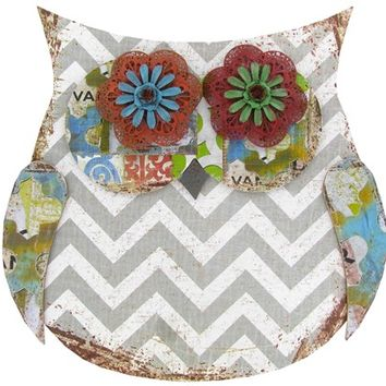 Gray & White Chevron Owl Wall Decor | Shop Hobby Lobby