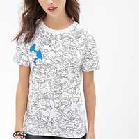 FOREVER 21 The Simpsons Graphic Tee White/Black