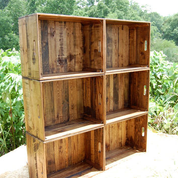shop wooden storage crates on wanelo. Black Bedroom Furniture Sets. Home Design Ideas