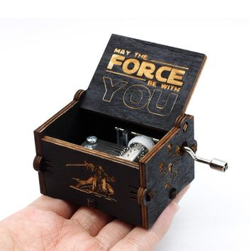Star Wars Force Episode 1 2 3 4 5 2018 New Antique Carving  Island Princess Music Box  Castle In The Sky  RainBow Christmas Gift AT_72_6