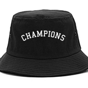 DCK4S2 Kings Of NY Champions Arch Black and Gold Bucket Hat