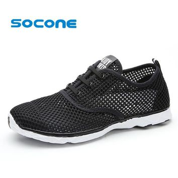 Socone Plus Size Men Summer Running Shoes Women Sneakers 2016 Mesh Breathable Sport Sh