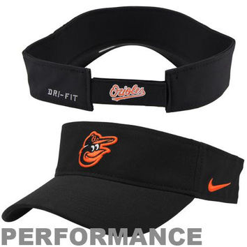 Nike Baltimore Orioles Stadium Adjustable Performance Visor - Black