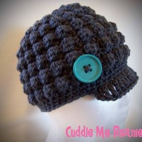 Bobble Brim Beanie ... by CuddleMeBeanies | Crocheting Pattern