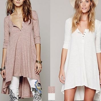 Casual Button Up Dovetail Dress