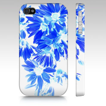 Blue Flowers, iPhone 6S, 5S, 4S, iPad Mini 2,3 or 4, Phone Case, Blue Petals Cell Phone Case ipad mini case, accessories
