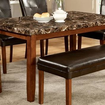 Sumner Faux Marble Dinner Table