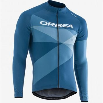 New Team ORBEA Jersey 2018 Long Sleeve Road Bike Shirts Breathable Cycling Clothing MTB maillot Ropa Ciclismo High Quality