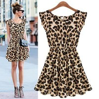 Sexy Casual Leopard Print Dress