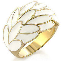 Gold Plated White Cocktail Ring â?? Modeets