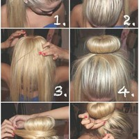 A much easier sock bun for people with ... - inspiring picture on Favim.com