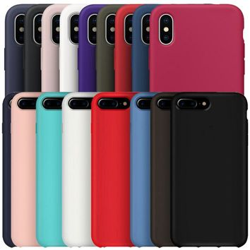 Original Silicone Case For iPhone 7 8 6S 6 Plus Phone OEM LOGO Official Cover Case For iPhone X With Retail Box