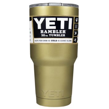 Promotional YETI 30 oz Gold Gloss Custom Tumbler