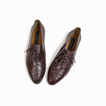 Vintage Thom Mcan Leather Oxfords Wingtip Shoes - Men's 9.5